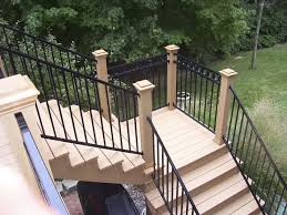 Image of wrought iron deck railing ideas