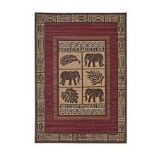ava cairo beige chocolate red 8 ft x 10 ft area rug