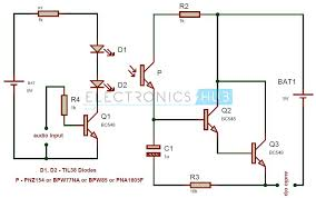 simple ir audio transmitter and receiver circuit ir audio transmitter and receiver circuit diagram