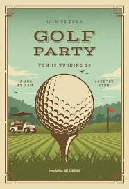 Golf Invitation Template Retro Golf Invitation Template Customize Add Text And Photos
