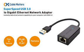 amazon com cable matters superspeed usb 3 0 to rj45 gigabit immediate network expansion the cable matters superspeed usb 3 0 to gigabit ethernet