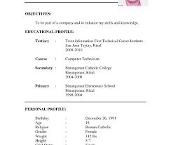Resume Job Sample Professional Resumet Samples Pdf Cv Free Download For Freshers 20