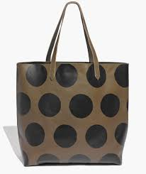 madewell transport tote dots