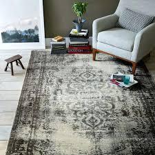 distressed arabesque wool rug steel west elm rugs verve reviews