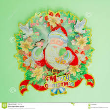 Christmas Decorations For The Wall Christmas Decorations On A Wall Stock Photo Image 67663893