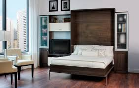 Bed With Tv Built In Bedroom Pull Out Bed Wall Be Equipped With White Solid Wood