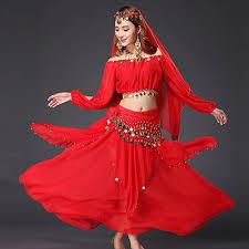 <b>Belly Dance</b> Outfits Women's <b>Performance Chiffon</b> Sequin / Gold ...