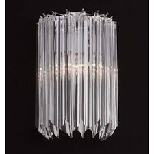 sydney murano glass wall sconce 2 lights transpa