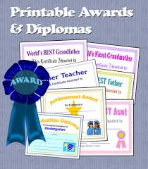 Printable Awards And Certificates Printable Awards Certificates And Diplomas Hubpages