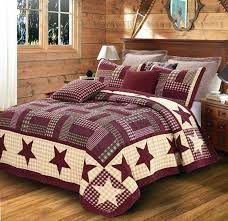 Rustic Country Quilts Full Size Of Rustic Quilt Bedding Bedding ... & ... Burgundy Red Star Quilt Set King Size Primitive Country Rustic Shabby  Chic Rustic Country Quilt Sets ... Adamdwight.com