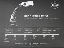 pressed juicery freeze menu