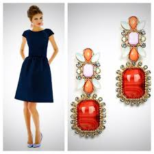 Coral - What Color Jewelry Goes with Navy Blue Dresses? - EverAfterGuide