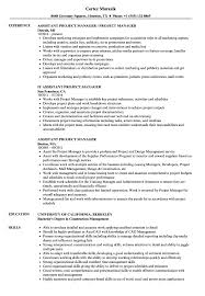 Construction Assistant Project Manager Resume Ataumberglauf