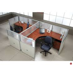 office desk workstation. 2 Person L Shape Office Desk Cubicle Cluster Workstation C
