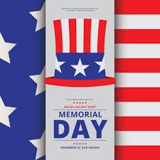 Memorial Day Decoration Illustration Brochure Template