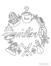 Small Picture Free Winter Coloring Page artzycreationscom