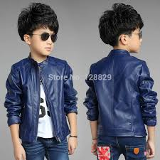 jackets for boys faux leather baby jackets solid full sleeve kids clothes for boys zipper baby