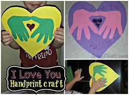 I Love You Crafts Diy I Love You Handprint Craft For Kids Great Keepsake Gift