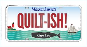Quilt Store on Cape Cod and Massachusetts Row by Row shop 1357 ... & QUILTISH Quilter Row by Row Experience Fabric License Plate - Cape Cod Quilt  Shop Adamdwight.com