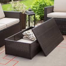 wicker coffee table with storage inspirational c coast berea outdoor wicker storage coffee table