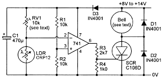 Automatic Light Operated Switch Using Ldr And Ic 741 Light Sensitive Circuits Nuts Volts Magazine