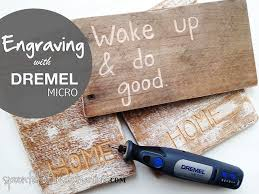 wood sign with dremel