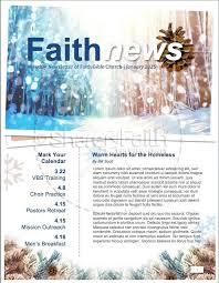 Light Of The World Christmas Newsletter Template