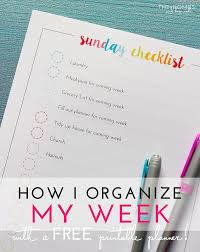 My Weekly Schedule How I Organize My Week With A Printable Weekly Schedule The