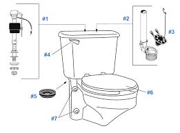 replacement parts for crane rexmont toilets