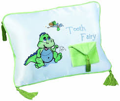 Amazon Lillian Rose Tooth Fairy Embroidered Pillow Dinosaur
