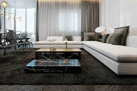 living room glamorous contemporary living room ideas black large fur rug wooden coffee table unique