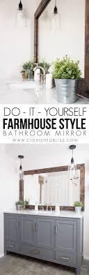 15 Cozy Farmhouse DIY Decor Ideas: 6.Farmhouse Bathroom Mirror