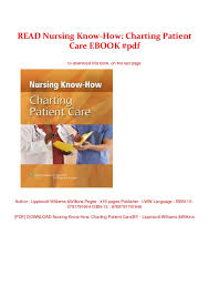 Read Nursing Know How Charting Patient Care Ebook Pdf