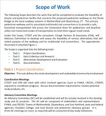 sample scope of work scope of work 22 dowload free documents in pdf word excel