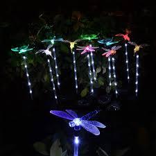 Dragonfly Garden Lights Solar Garden Light Hummingbird Butterfly Dragonfly Stake