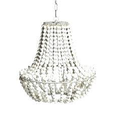 beaded pendant light vintage retro white wooden