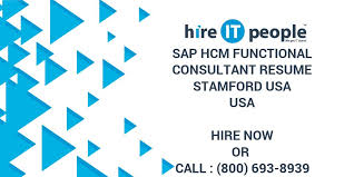 Sap Hcm Functional Consultant Resume Stamford Usa Hire It People