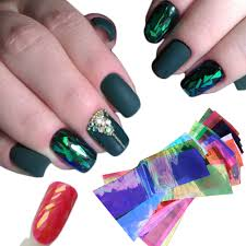 24 Different Color Broken Glass Starry Nail Foils Nail Art Sticker ...