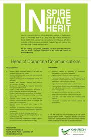Central Head Corporate Communication Resume Head Of Corporate Communications Job Street Lanka 12