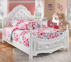 Exquisite Full Ornate Poster Bed with Tufted Headboard & Footboard by Signature Design by Ashley at Royal Furniture
