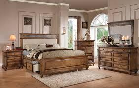 Arielle Oak 4pc California King Storage Bedroom Set 24454ck King Bedroom Set With Storage