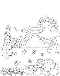 Free Printable Flower Garden Coloring Pages Flower Garden Coloring