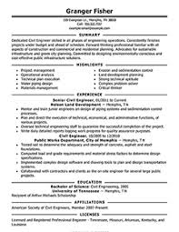 civil engineer resume example winning resumes examples