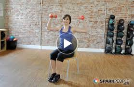 11 minute chair cardio workout video