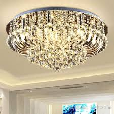 dimmable crystal chandeliers high end class k9 crystal led ceiling modern chandeliers lighting ceiling lamp hotel hall villa crystal lights
