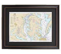 Amazon Com Patriot Gear Company Framed Nautical Chart