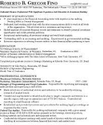 sample resume for investment banking investment banker resume example