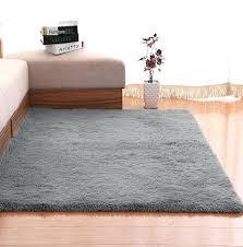 large carpet size plush gy fluffy for living room bedroom kids rug home mat non slip