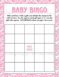 Princess Baby Shower Game For Girl Bingo Instructions Free To Print