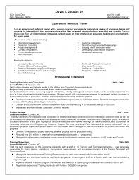 Technical Trainer Resume Sle Resumes Templates Technical Trainer